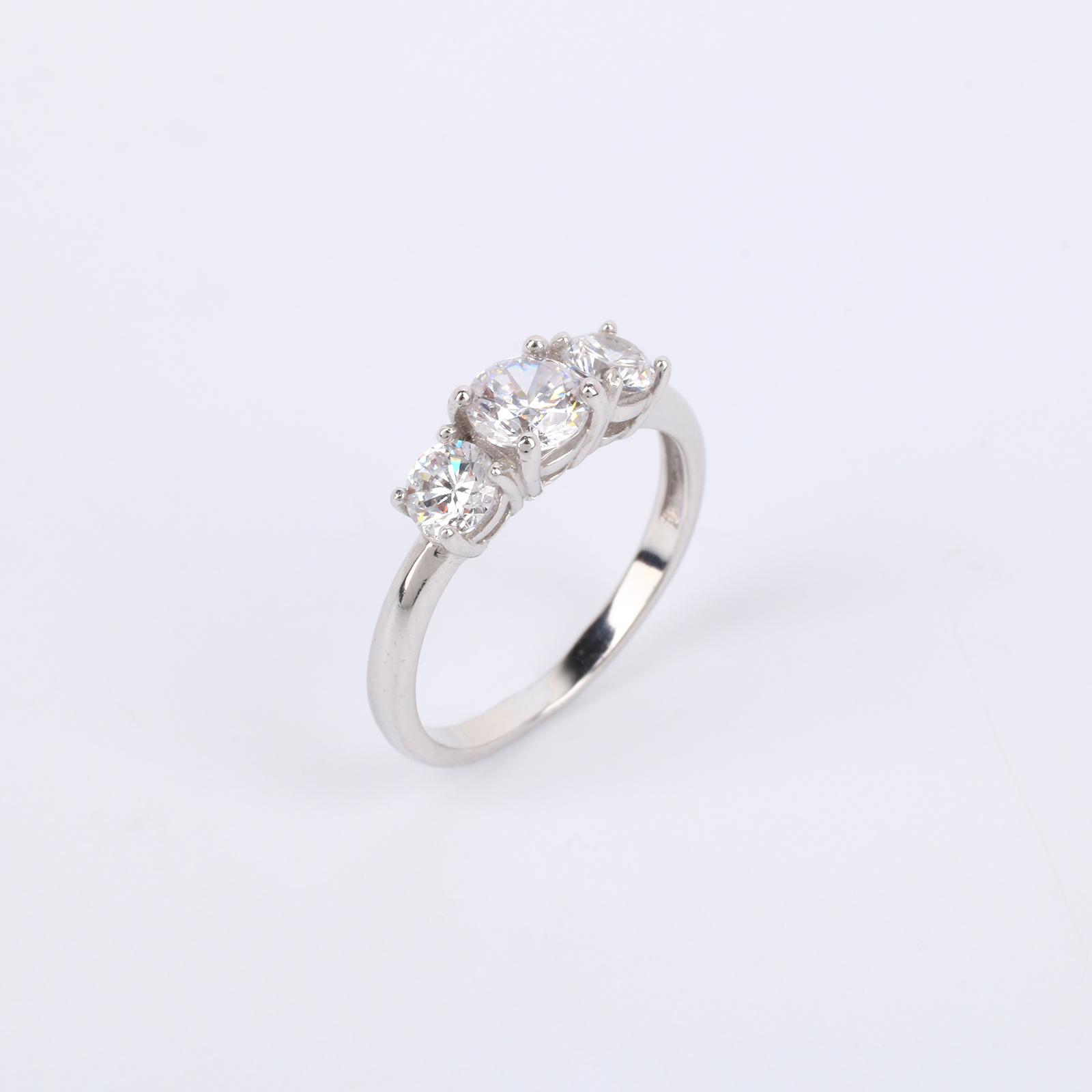 """Серебряное кольцо """"Блестящее трио"""""""