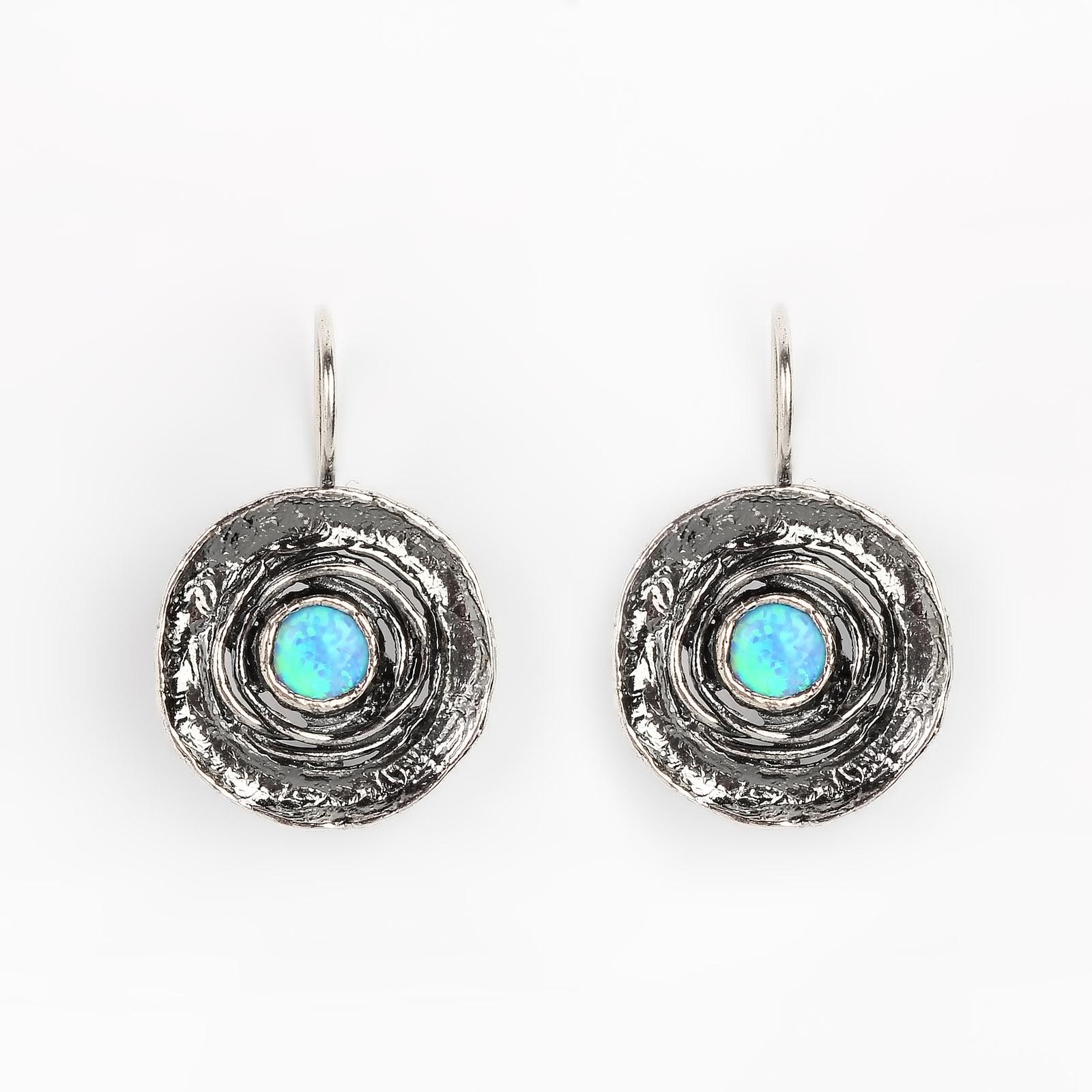 Серебряные серьги «Цвет неба»