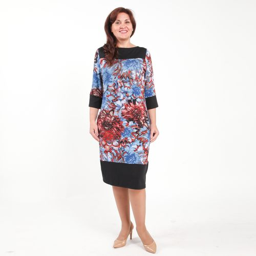 Платье прямого кроя с принтом «Сентябрь»