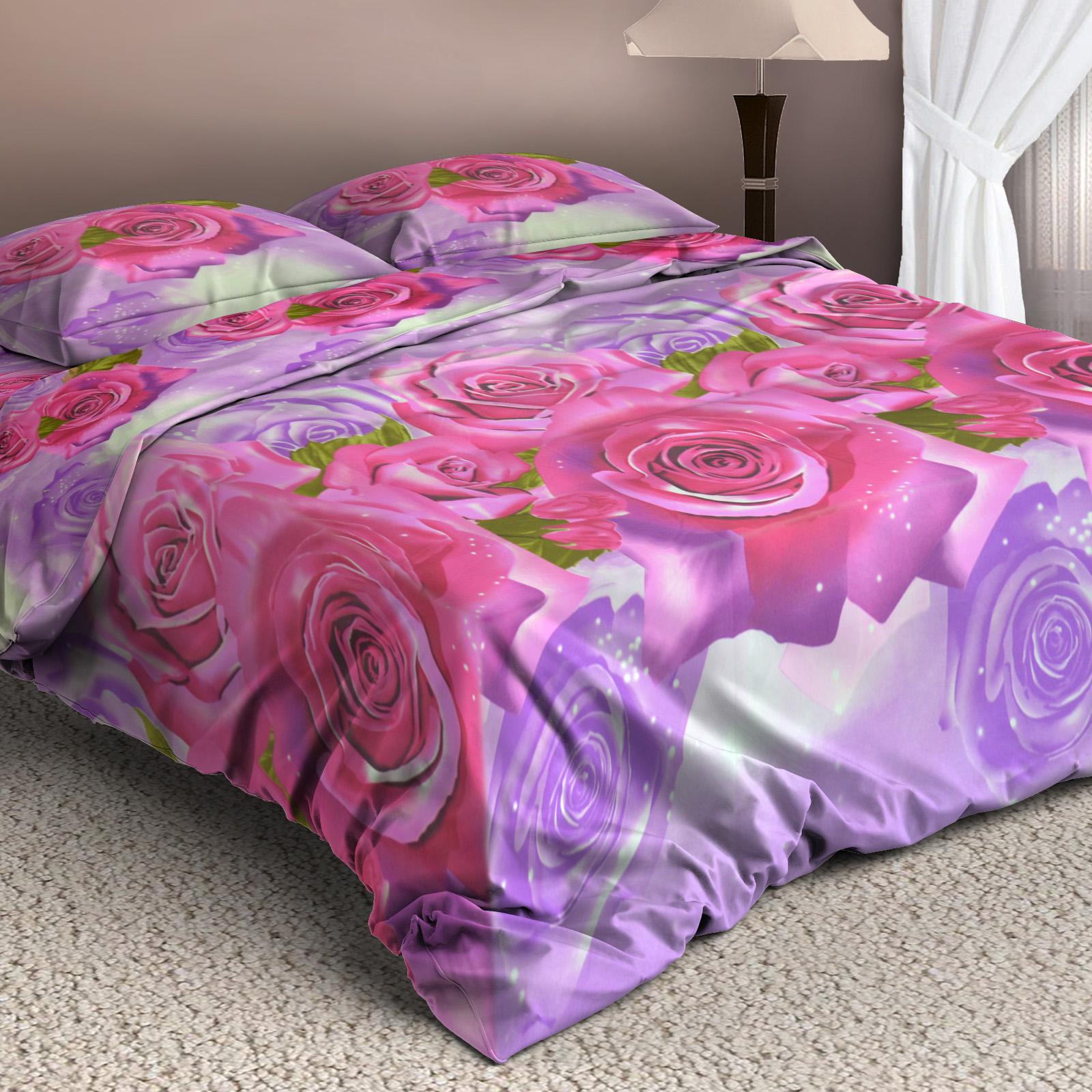 Комплект постельного белья «Пурпурные розы»