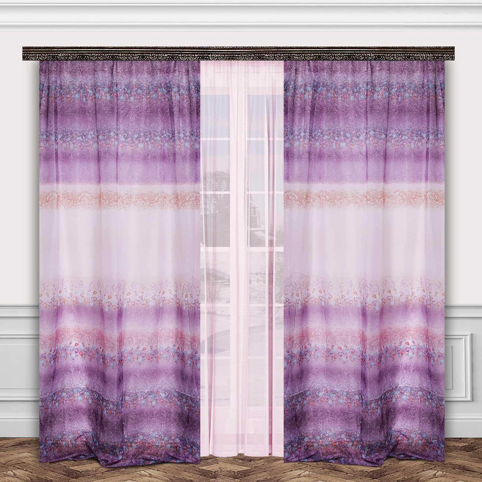 Комплект штор + тюль «Тюльпановый сад»