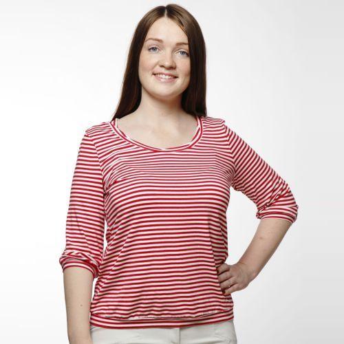 Блуза в полоску свободного кроя