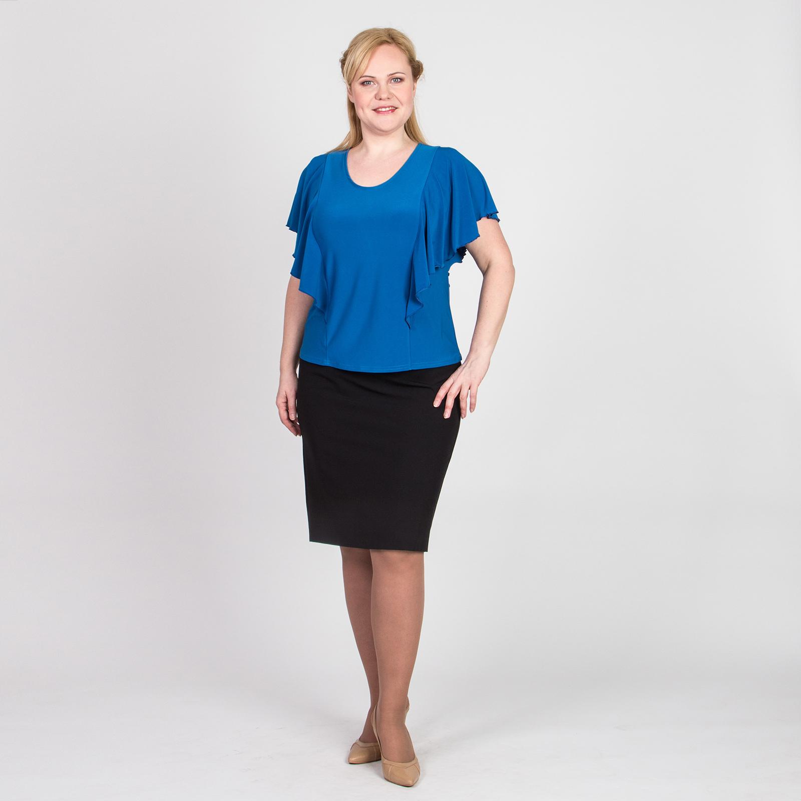 Блуза приталенного кроя с оригинальными рукавами