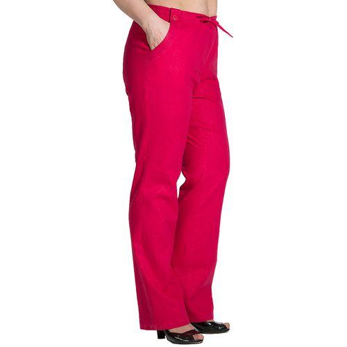 Прямые брюки с кулиской и карманами