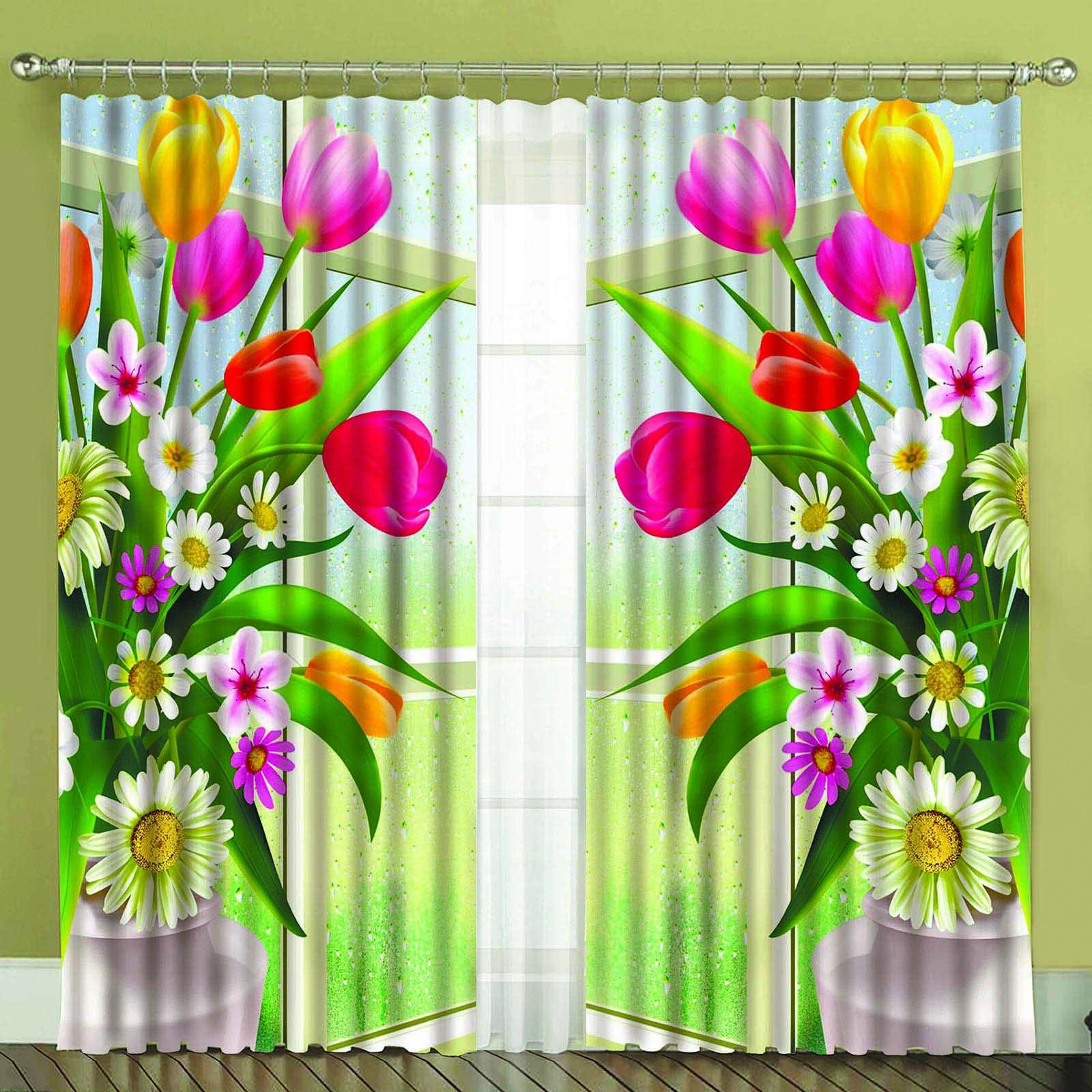 Комплект штор + тюль «Свежесть цветов»