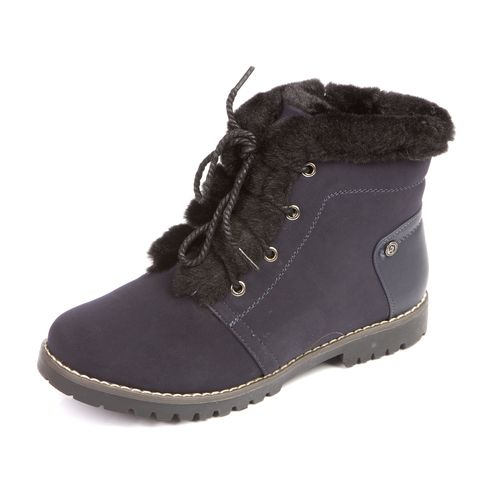 Ботинки на шнуровке с меховой опушкой