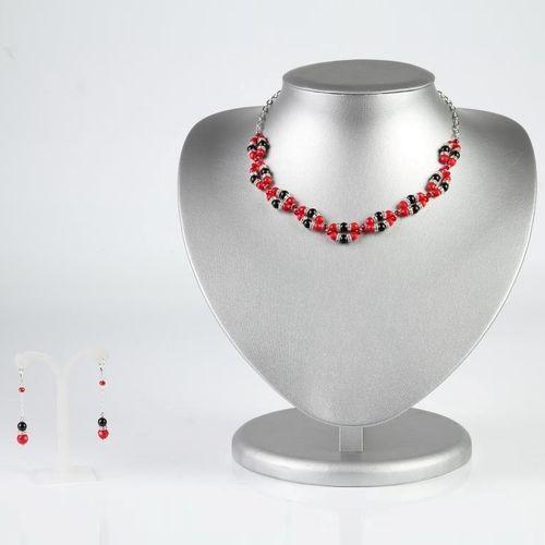 Комплект украшений «Красная лилия»