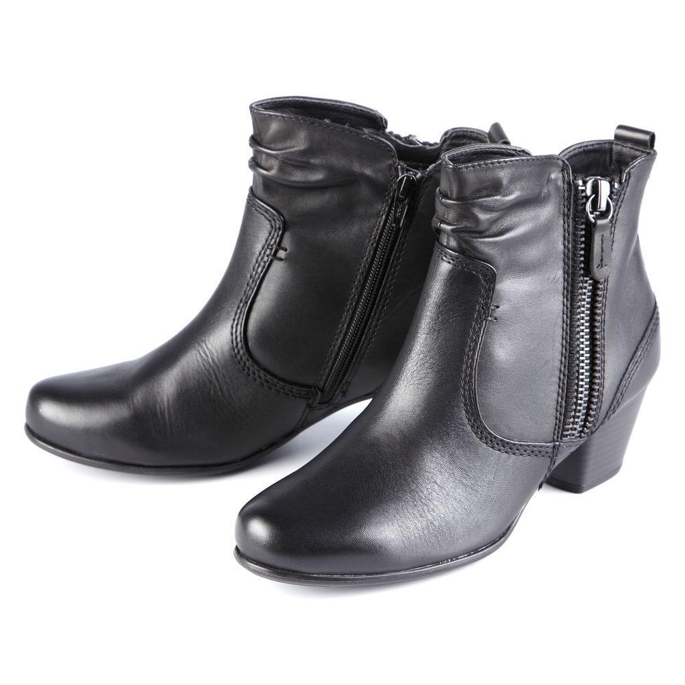 Ботильоны женские на низком каблуке и молнии