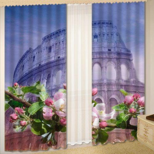 Комплект штор + тюль «Колизей»