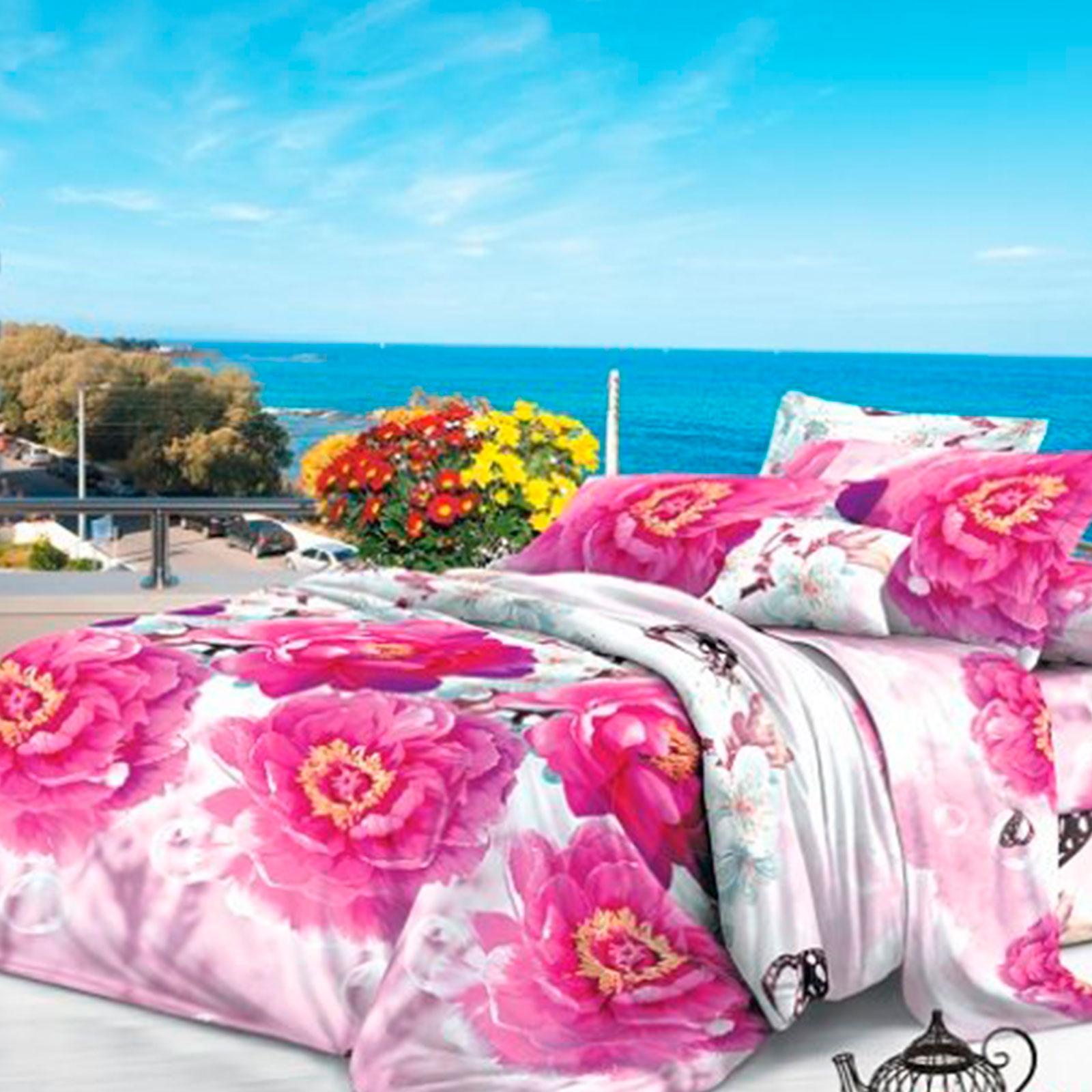 """Комплект: покрывало и подушка """"Розовое настроение"""""""