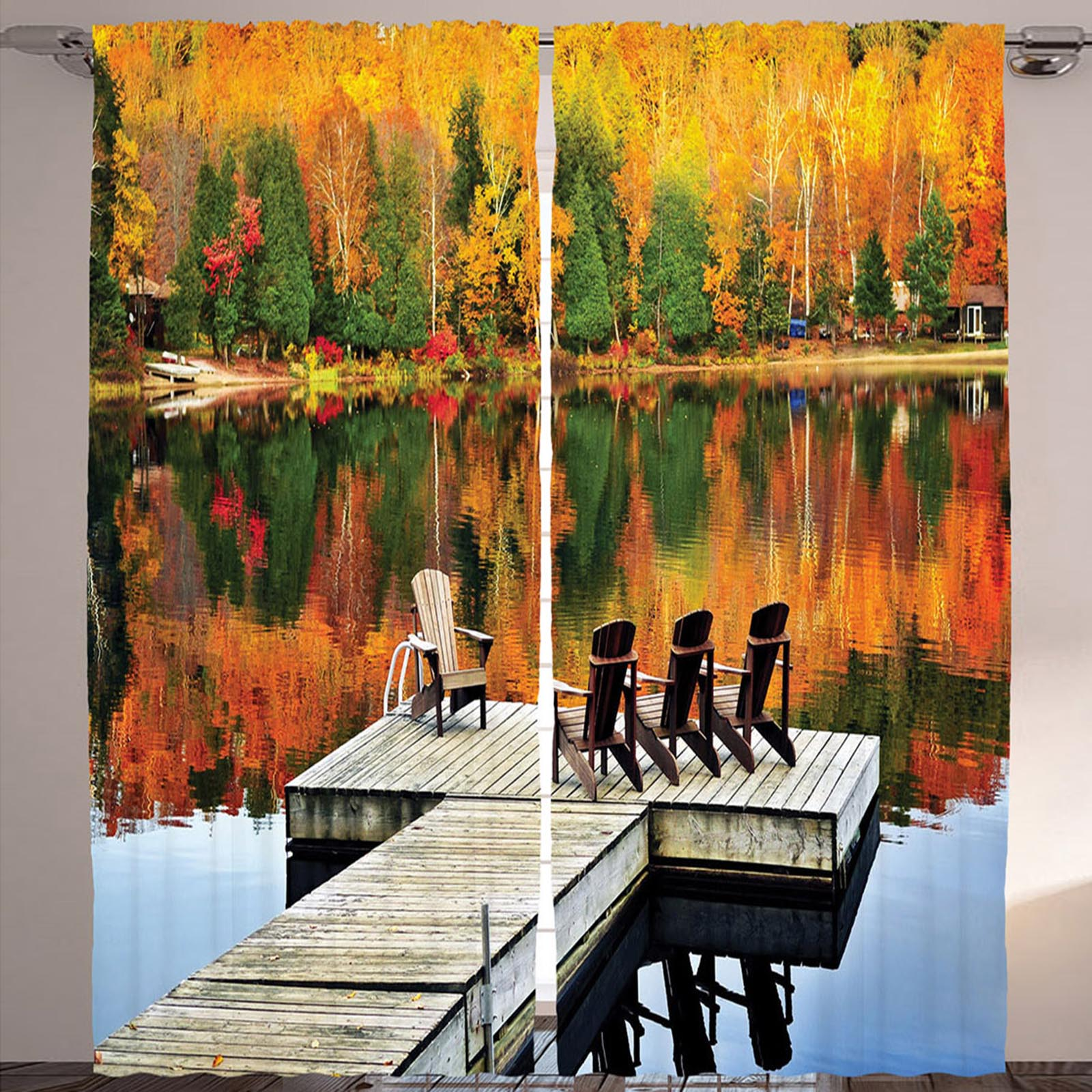 Комплект штор «Осеннее отражение»