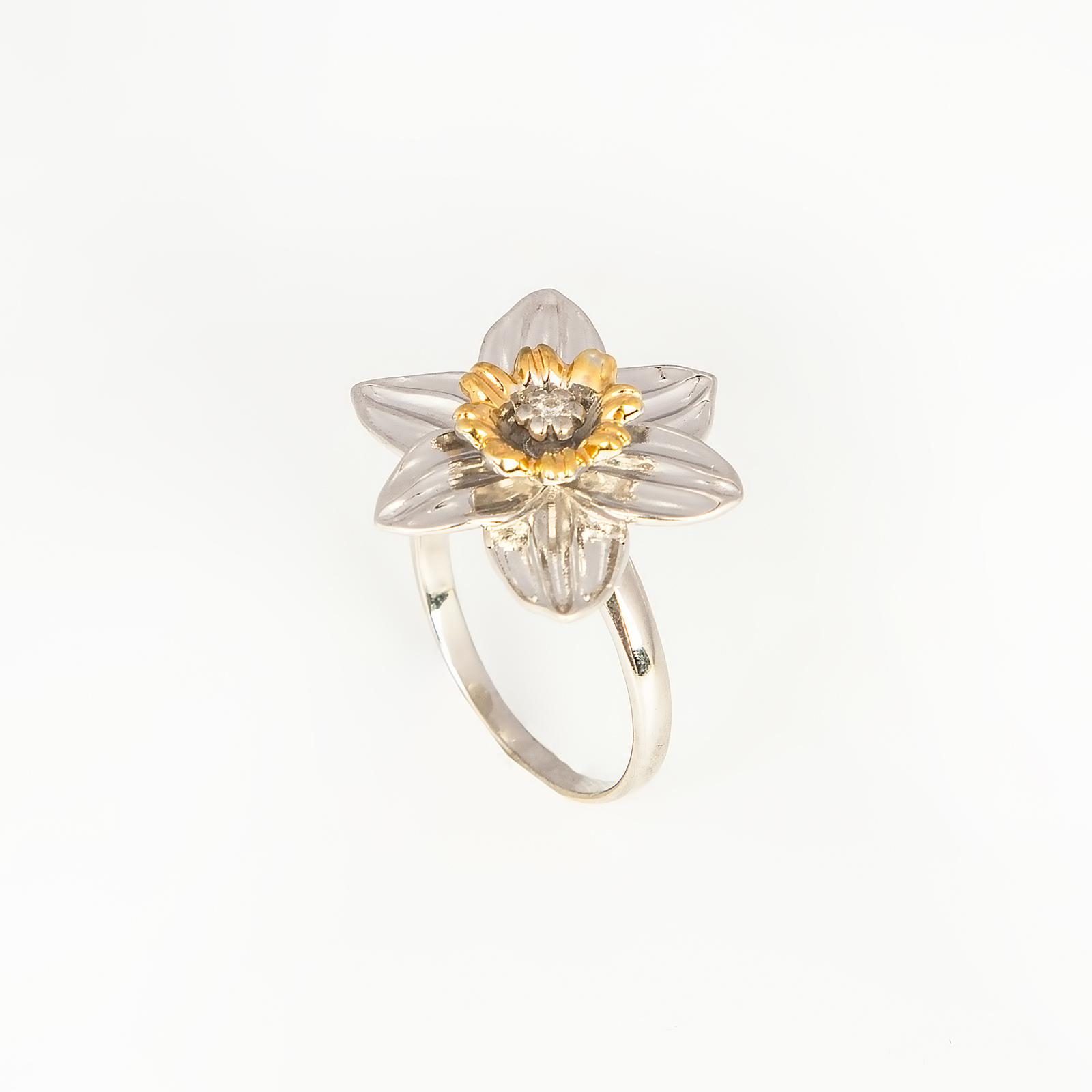 Серебряное кольцо «Великолепный нарцисс»