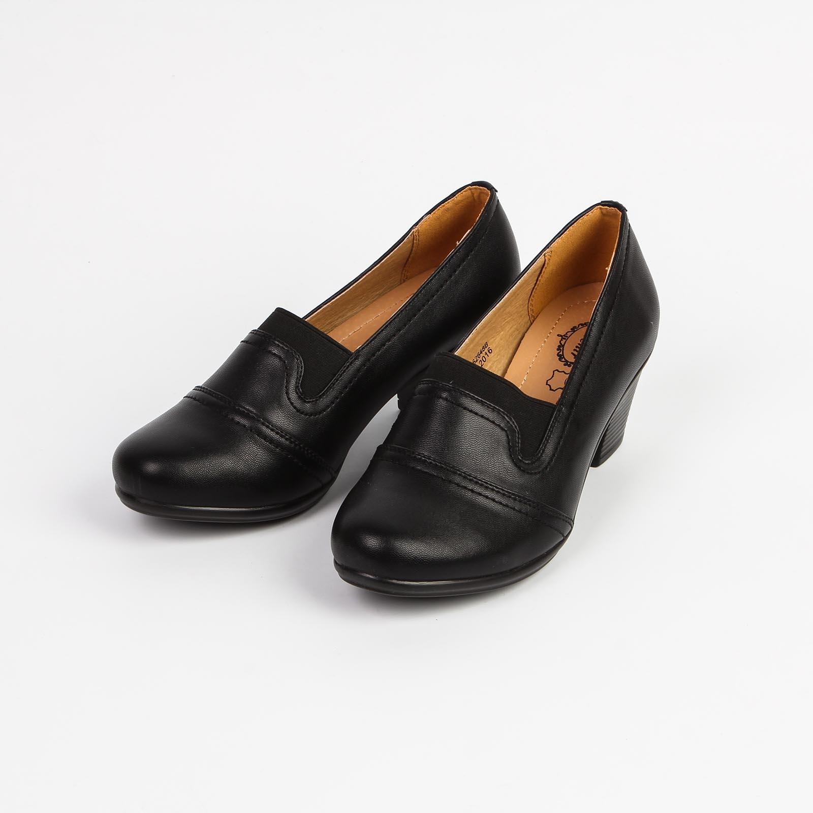 Туфли женские с декорированной прострочкой на мысу