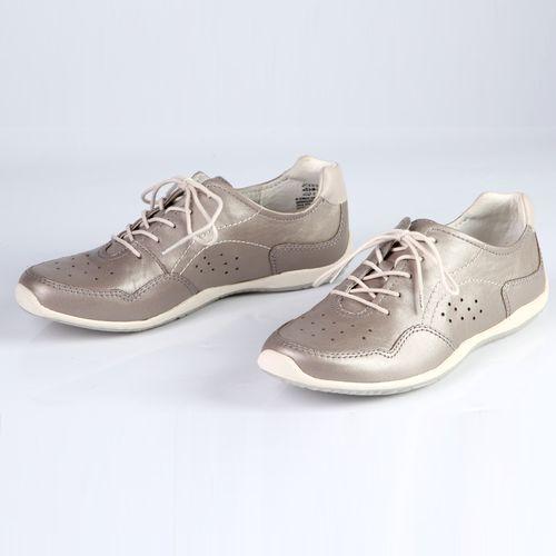 Женские ботинки из натуральной кожи на шнуровке