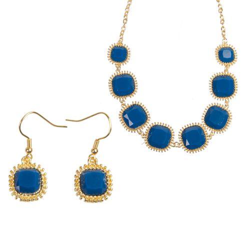 Комплект украшений «Синий бархат»