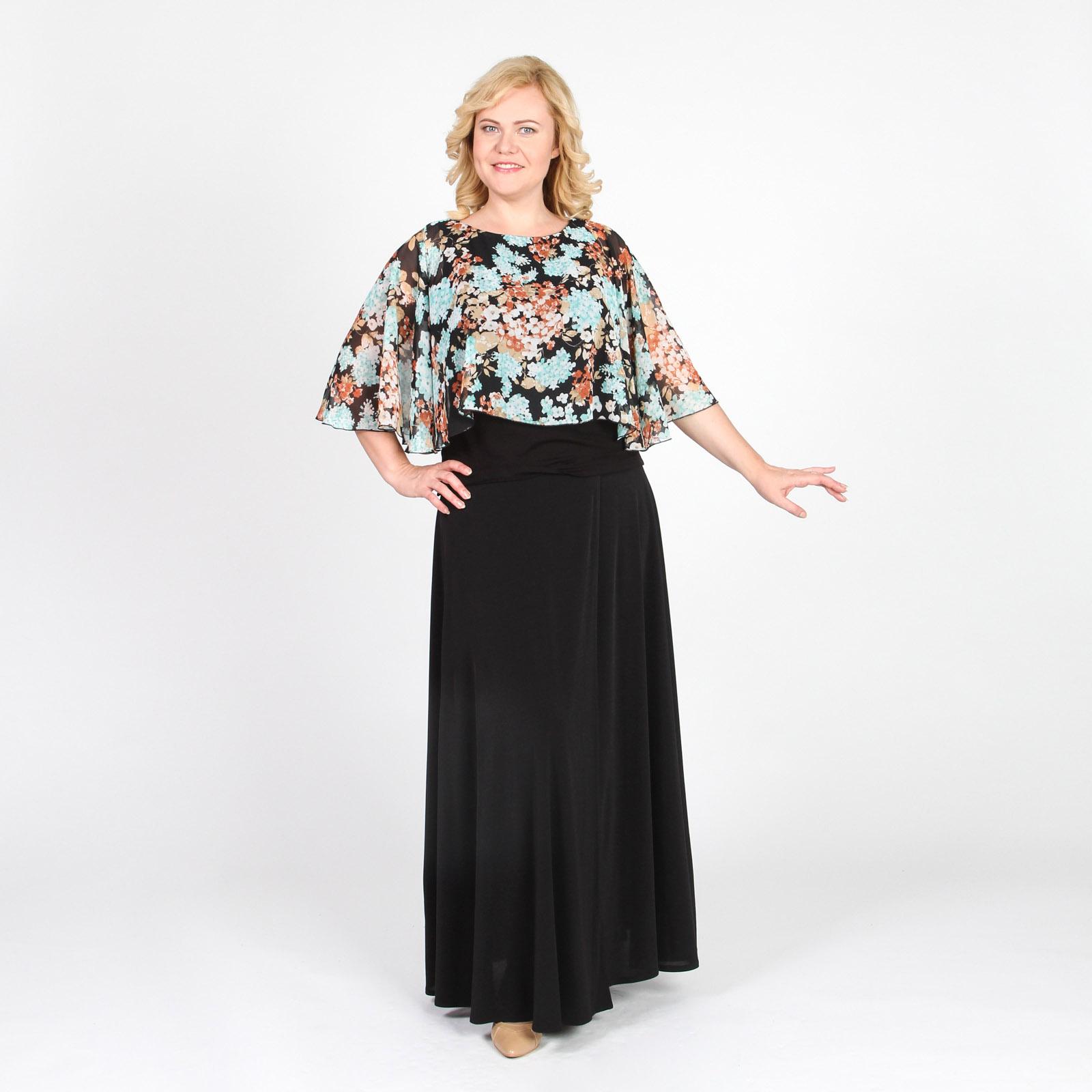 Блуза с перелиной и цветочным принтом