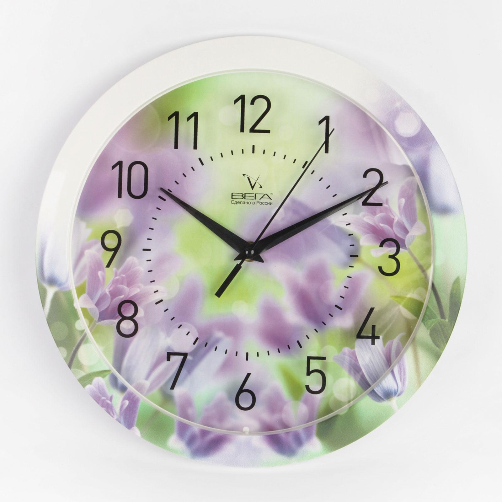 Часы настенные «Сиреневая нежность»
