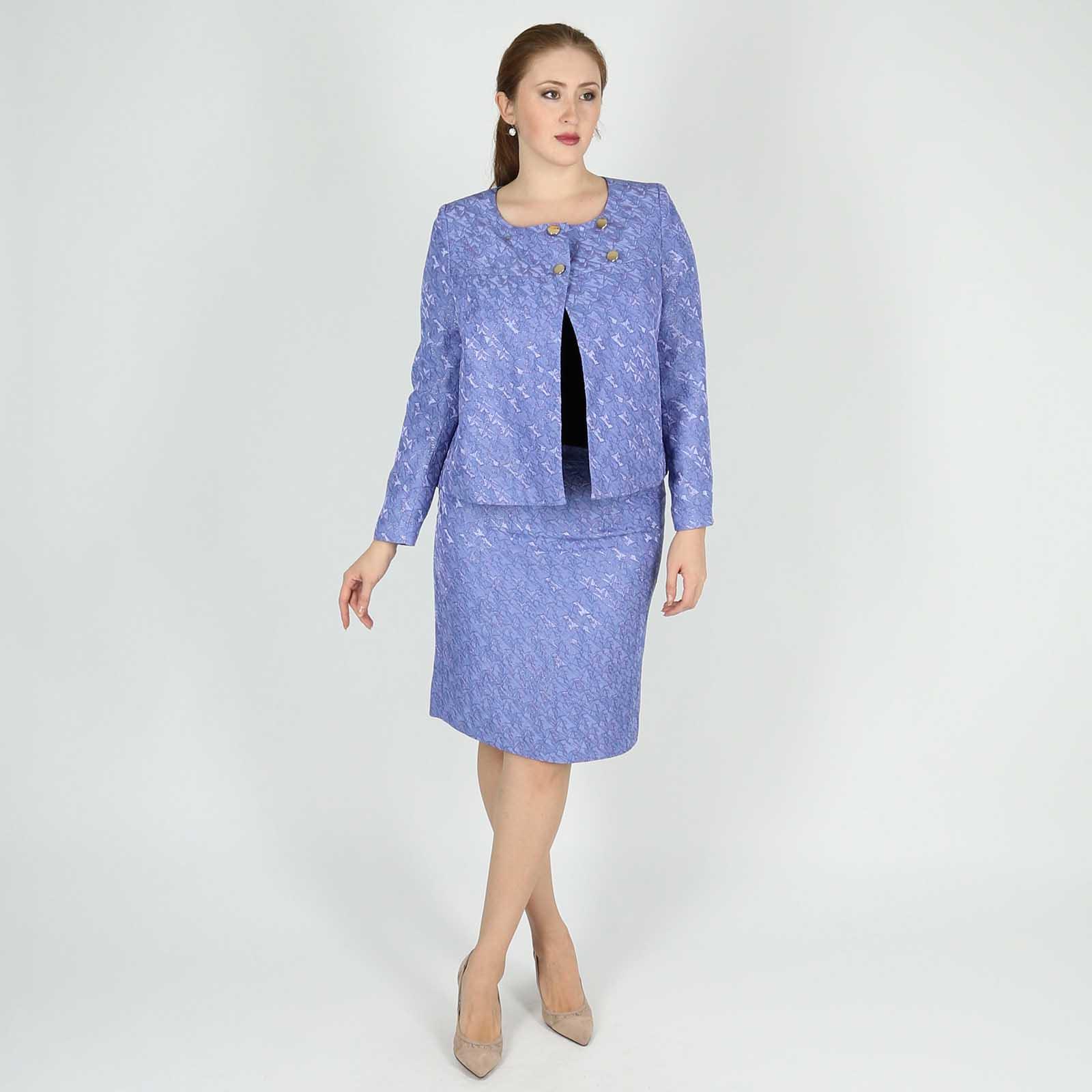 Костюм: юбка прямого кроя и жакет