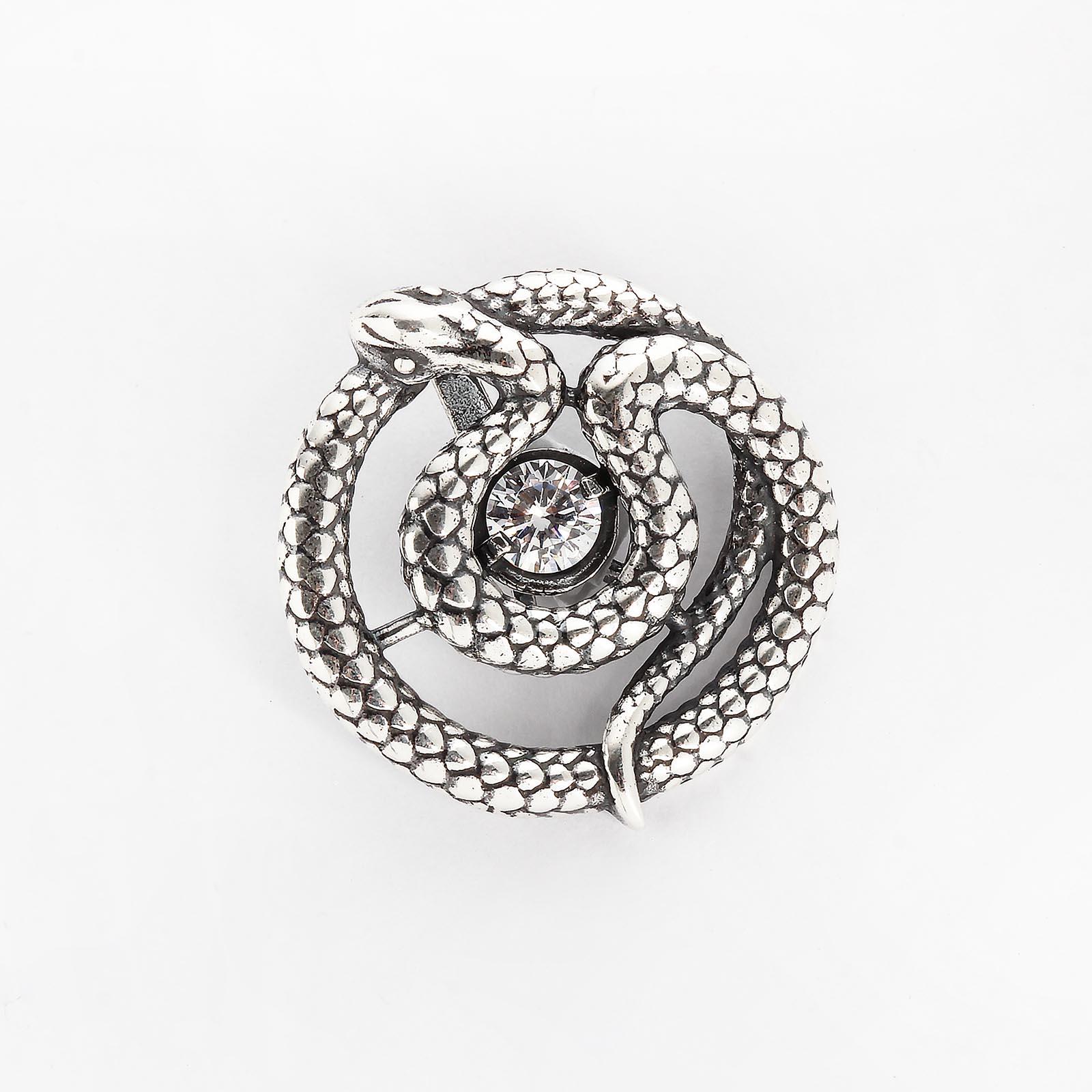 Серебряный кулон «Танец змеи»