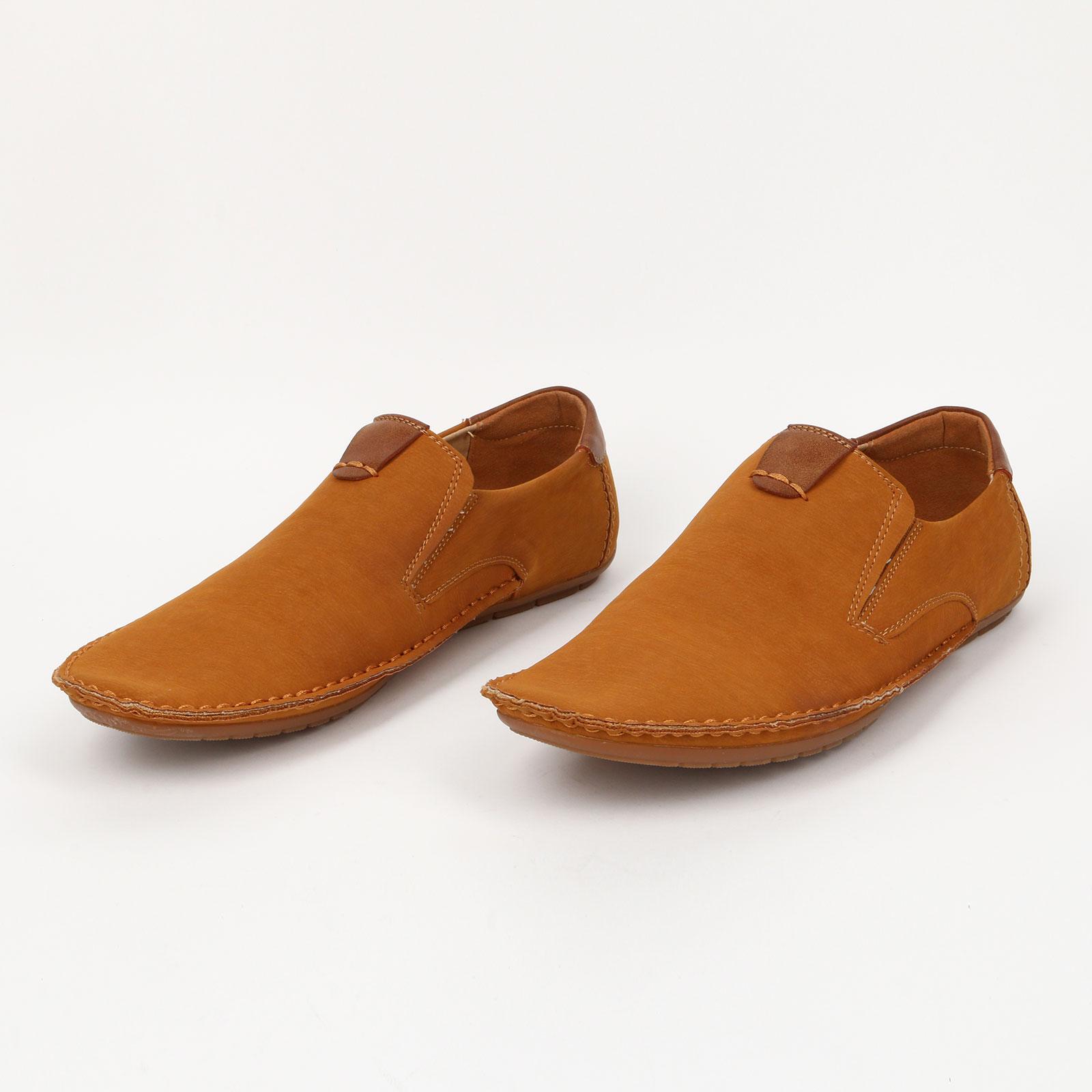 Мужские туфли с декоративной строчкой