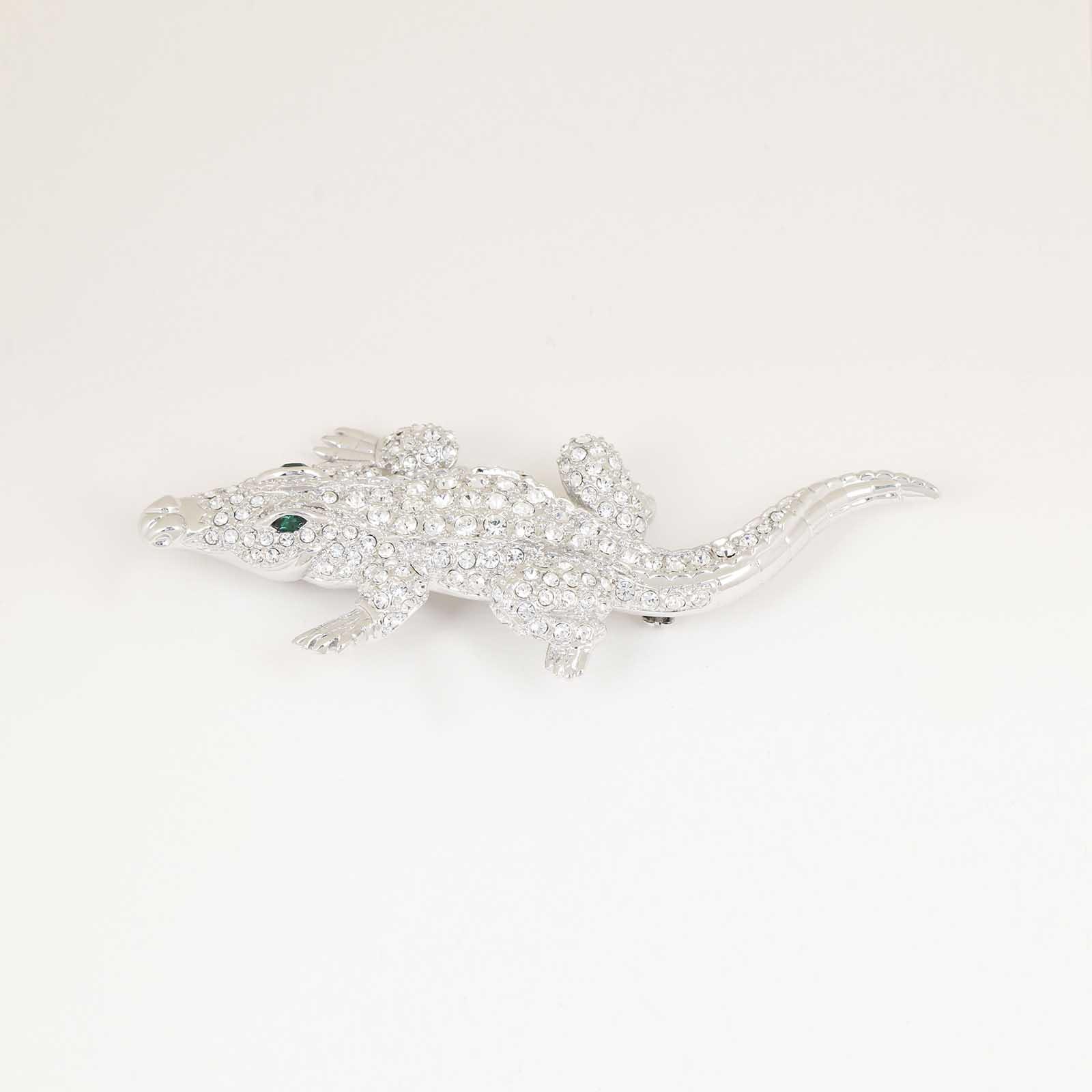 Брошь «Алмазный крокодил»