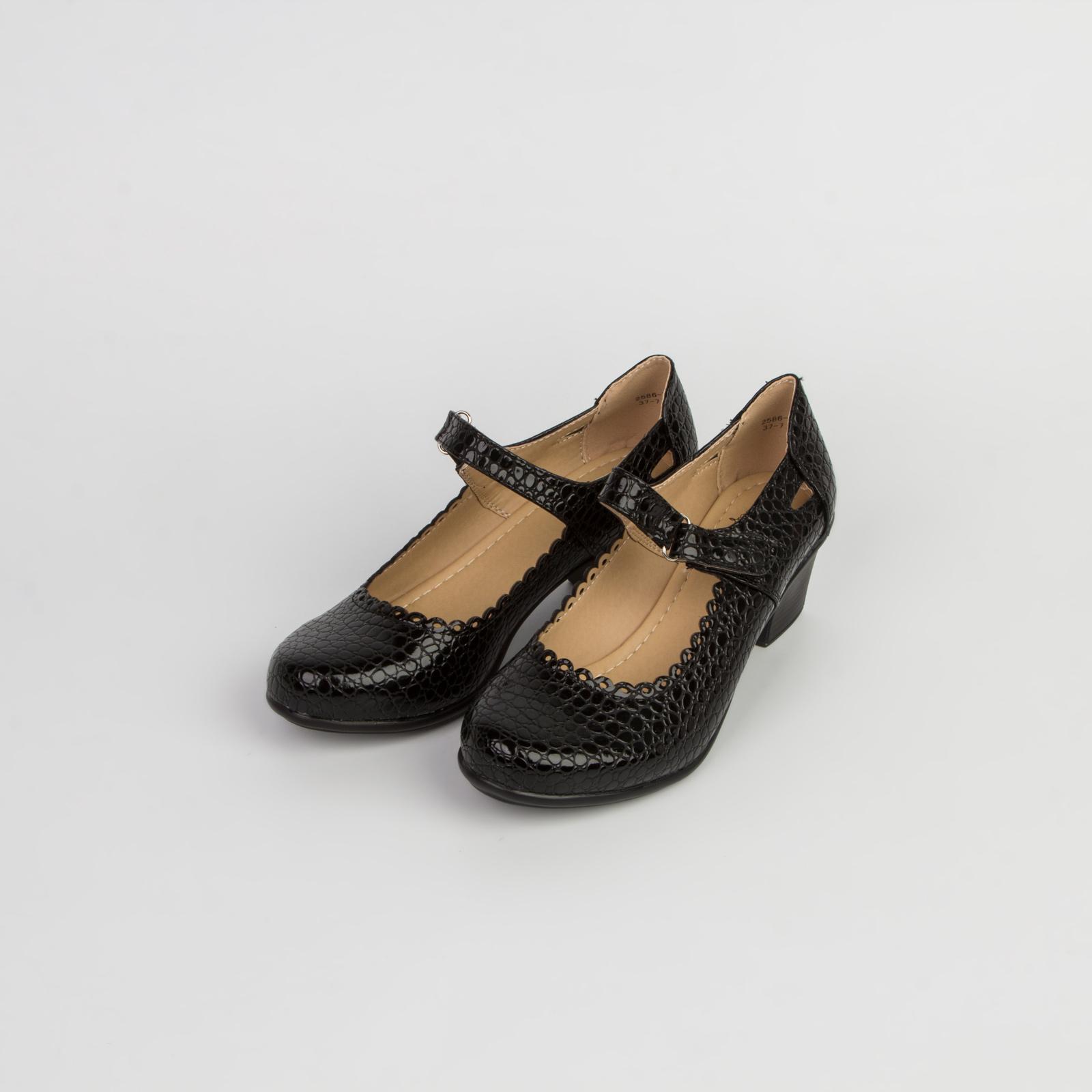 Туфли женские с тиснением под рептилию