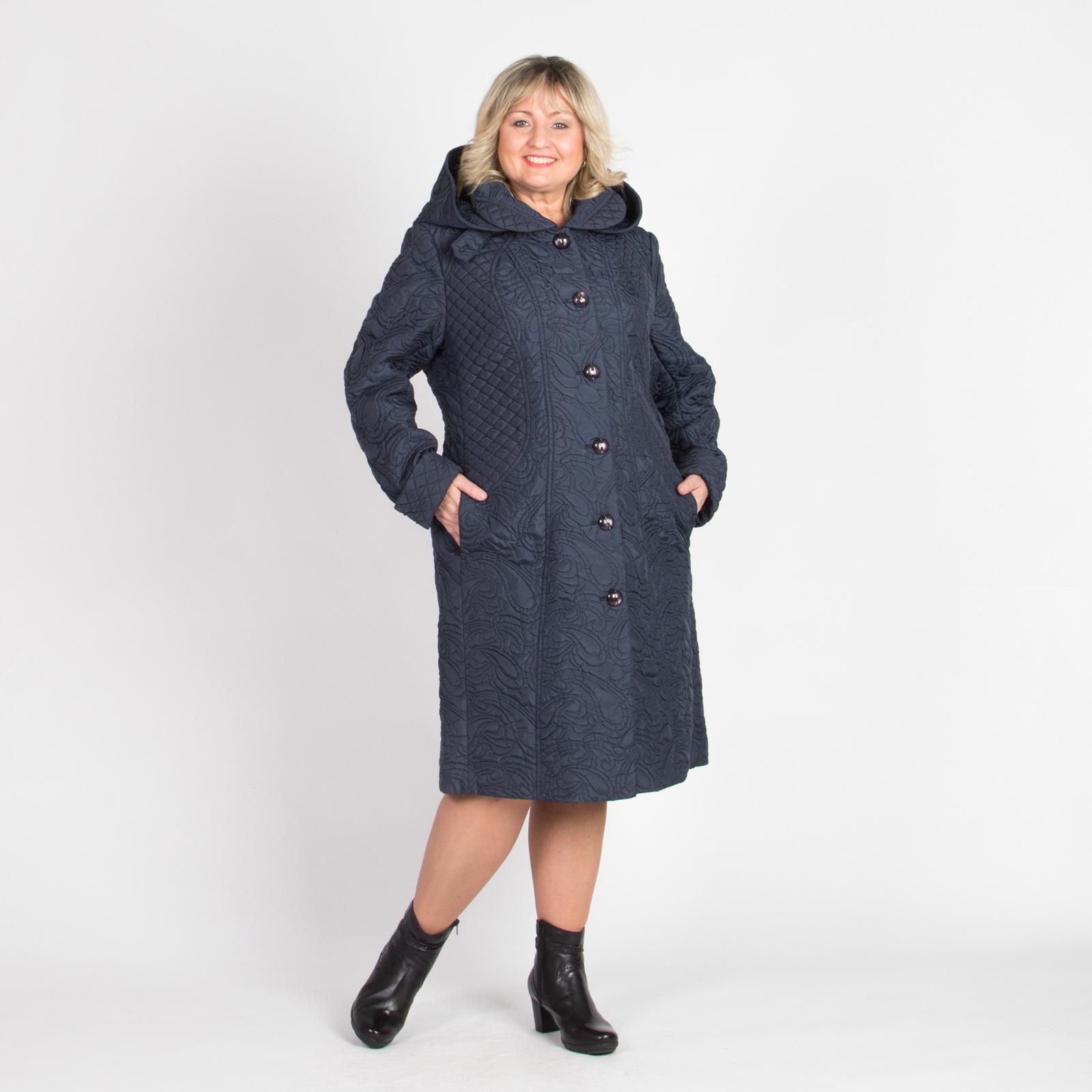 Пальто с отложным воротником и съемным капюшоном