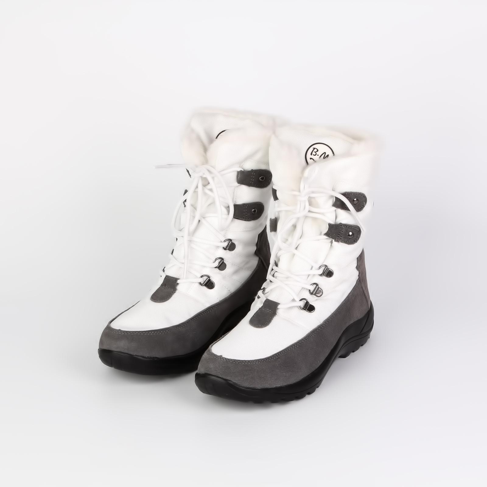 Дутики на рифленой подошве и удобной шнуровке