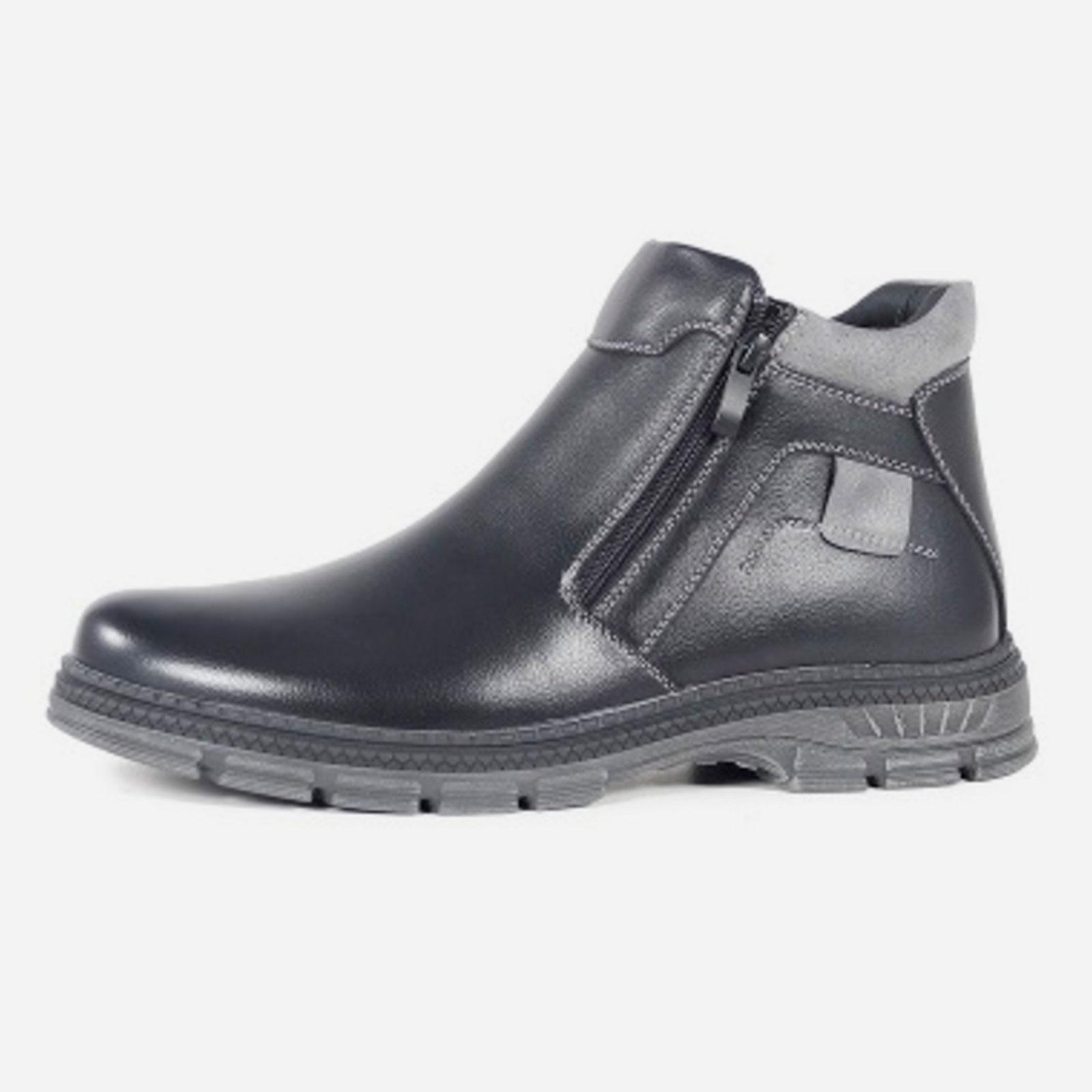 Зимние мужские ботинки на молнии