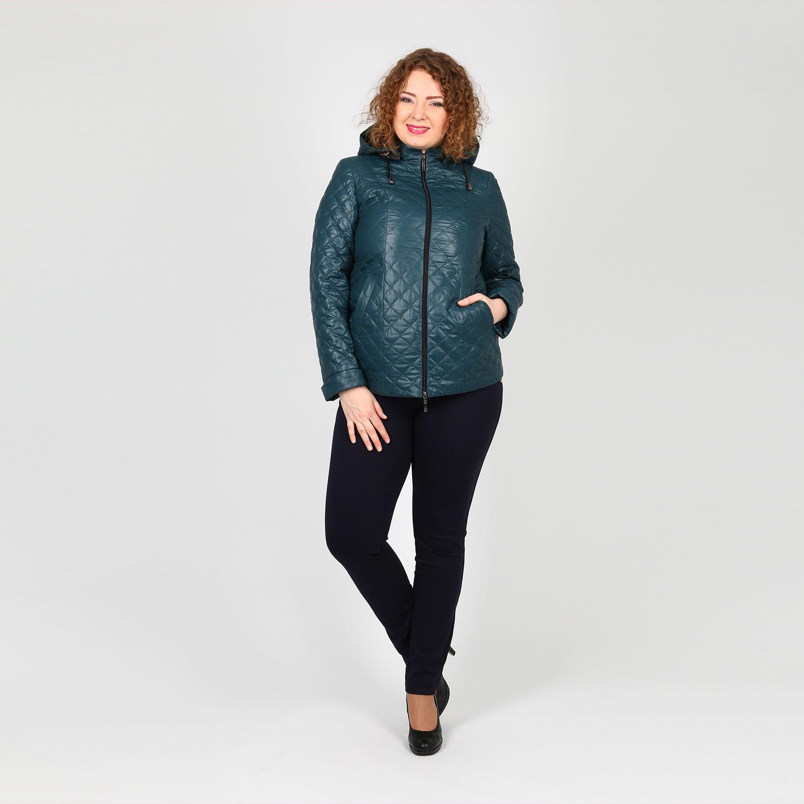 Куртка на молнии с карманами и капюшоном