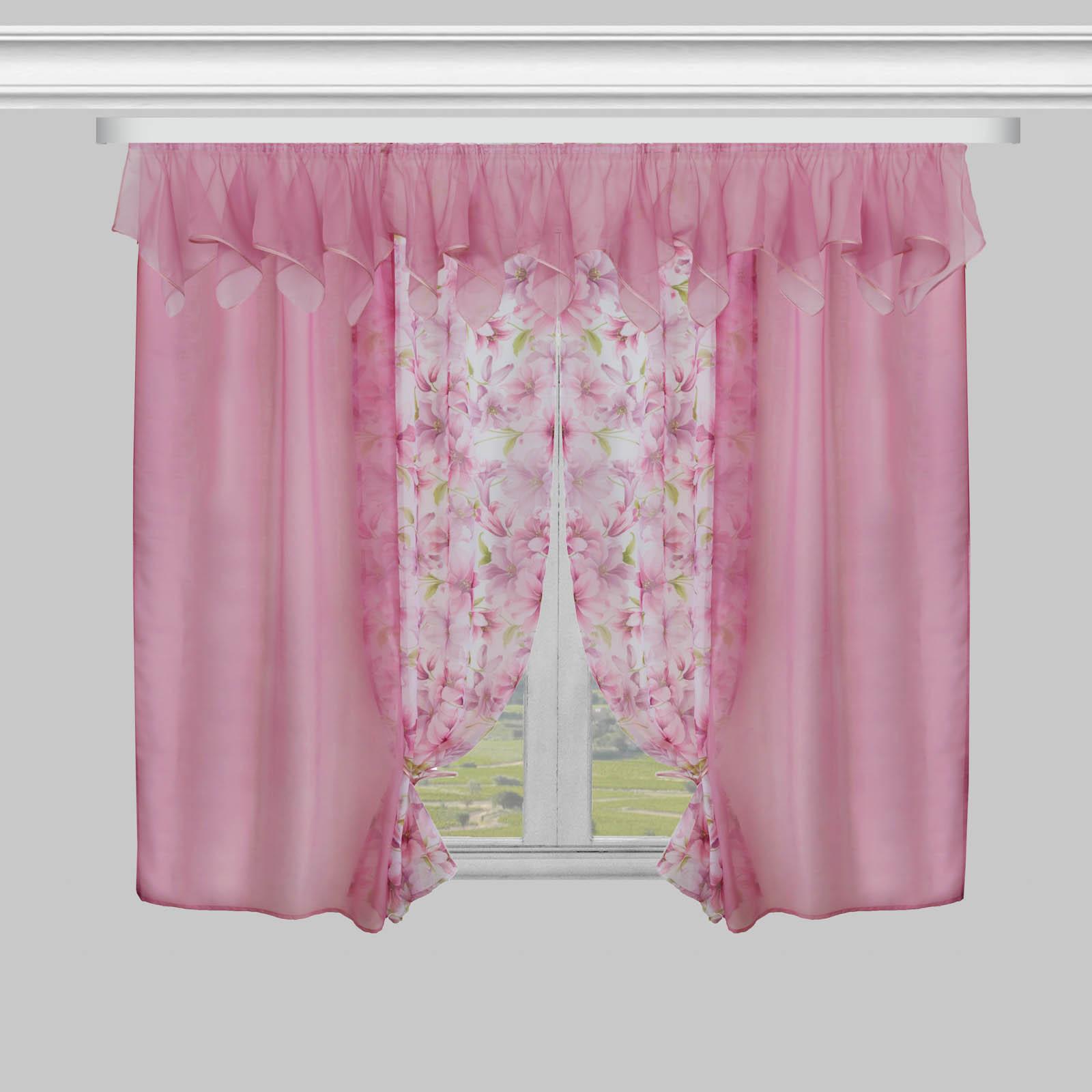 Комплект штор «Розовая мечта» + ламбрекен