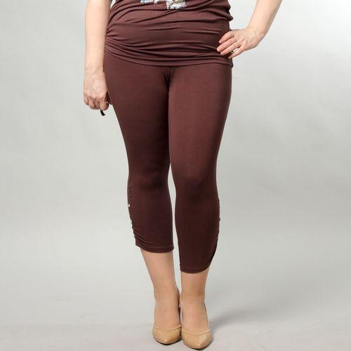 Трикотажные брюки-капри