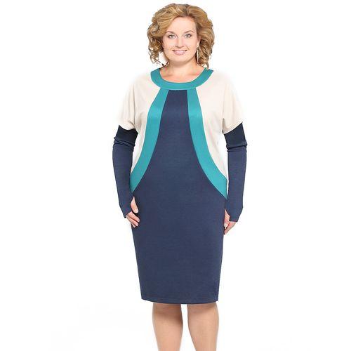Трикотажное платье «2 в 1» со съемными рукавами