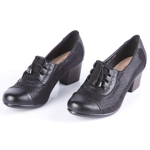Туфли женские на широком каблуке со шнуровкой