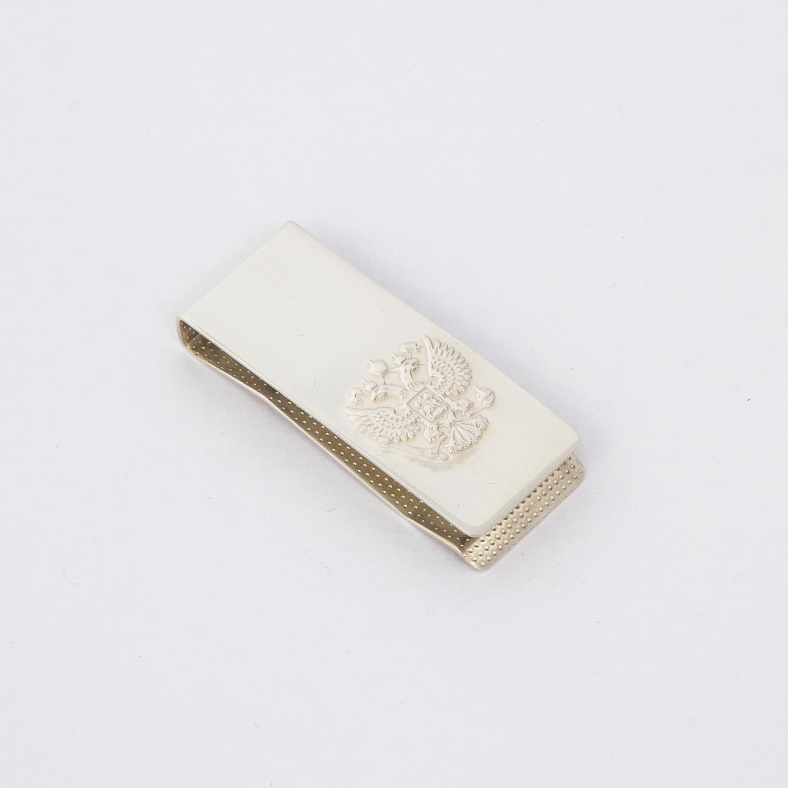 Серебряный зажим для денег «Герб»