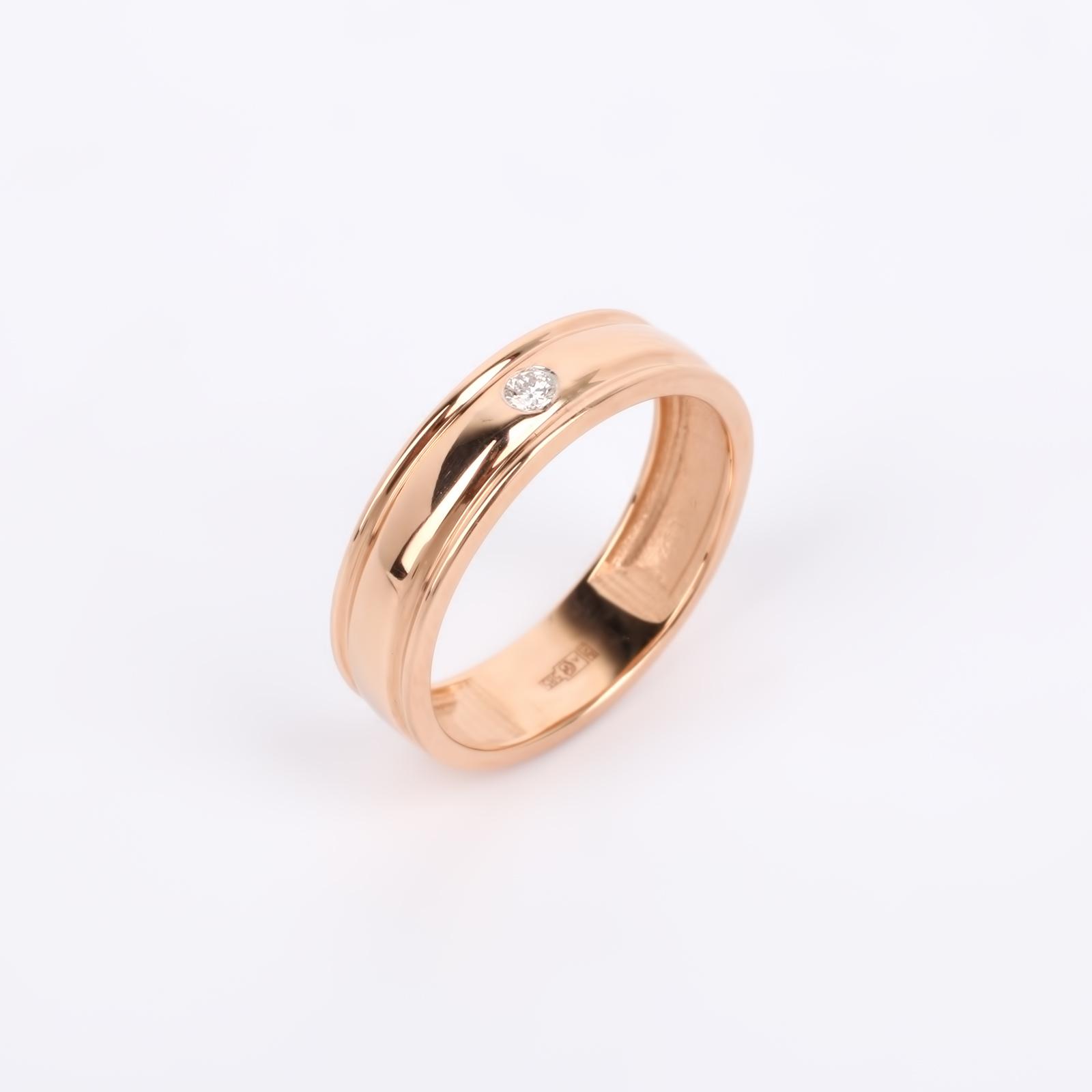 """Кольцо из золота с бриллиантом """"Важная особа"""""""