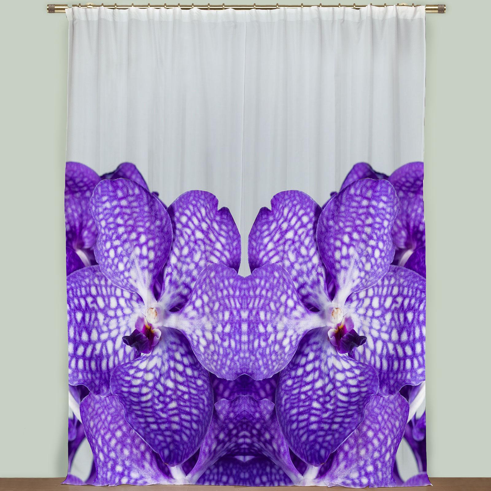 Комплект штор «Бархатный цветок»