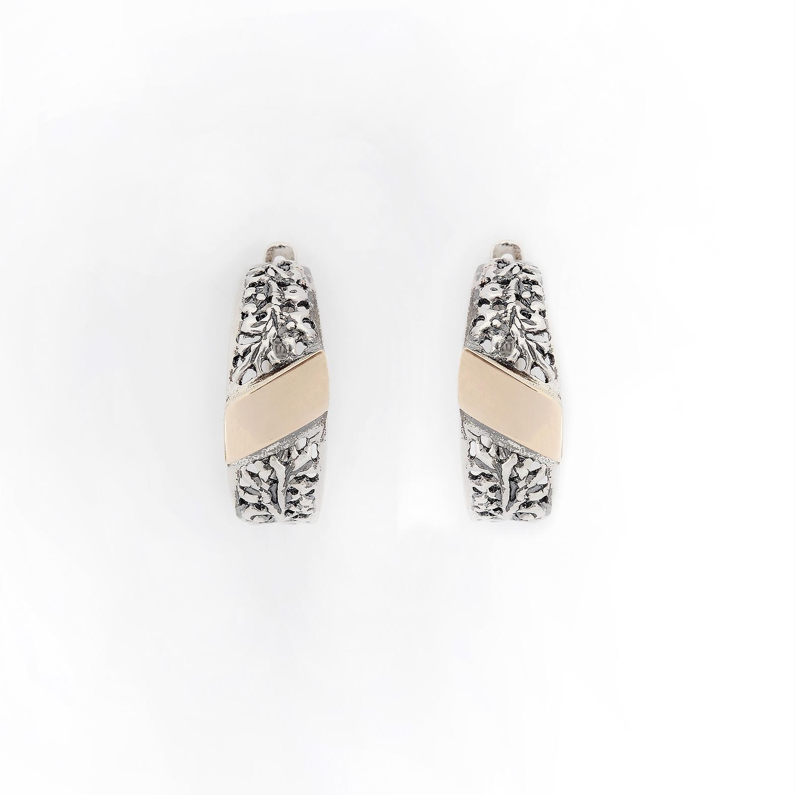 Серебряные серьги «Венец творения»