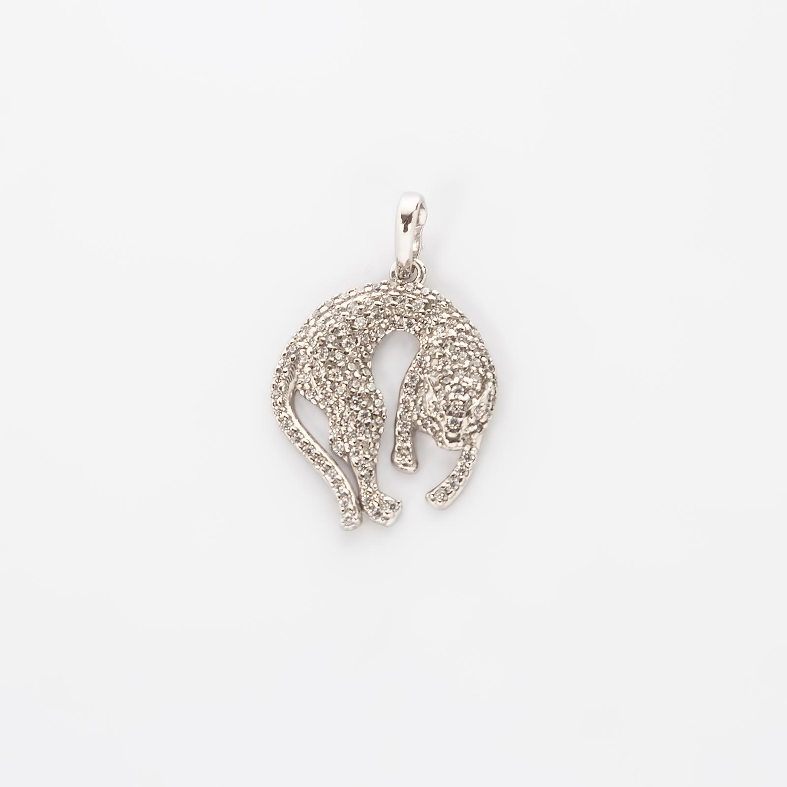 Серебряная подвеска «Дикая пантера»