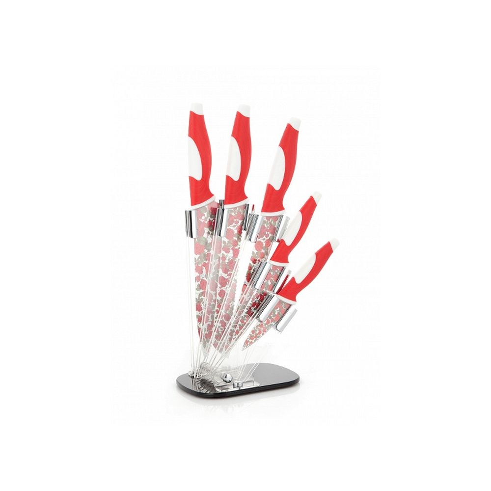 Набор кухонных ножей с антибактериальным покрытием «Царица цветов»