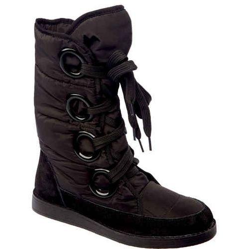Женские сапожки-дутики со шнуровкой