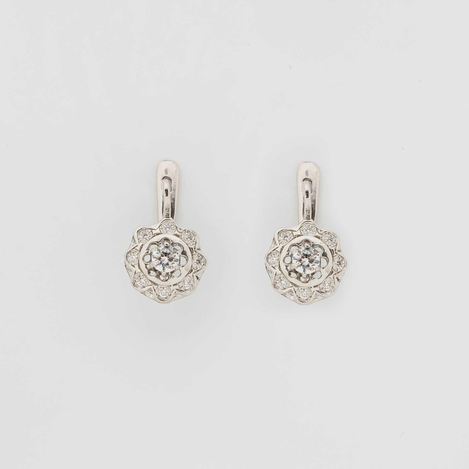 Серебряные серьги «Цветочек»