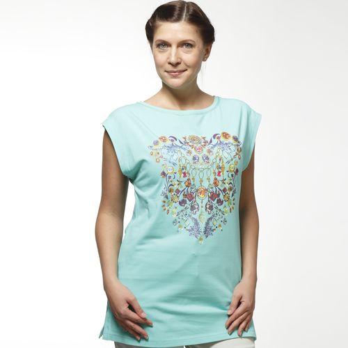 Блуза женская с принтом «Изумруды»