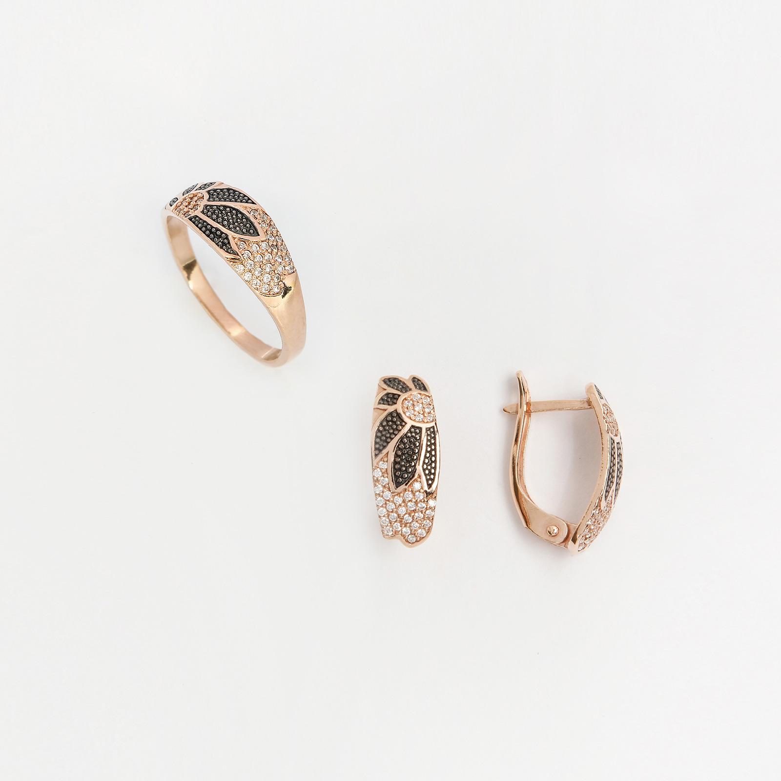 Серебряный комплект «Подсолнухи»