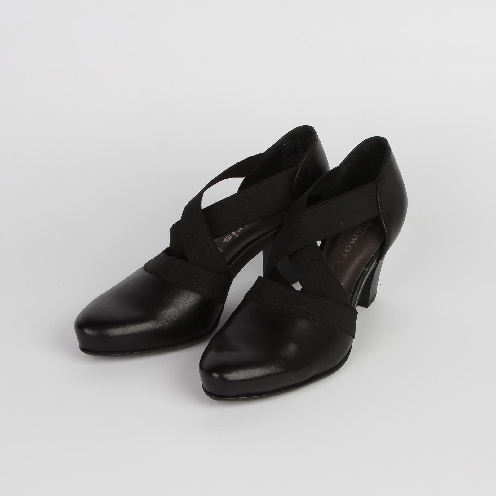 Туфли женские из натуральной кожи с эластичными ремешками