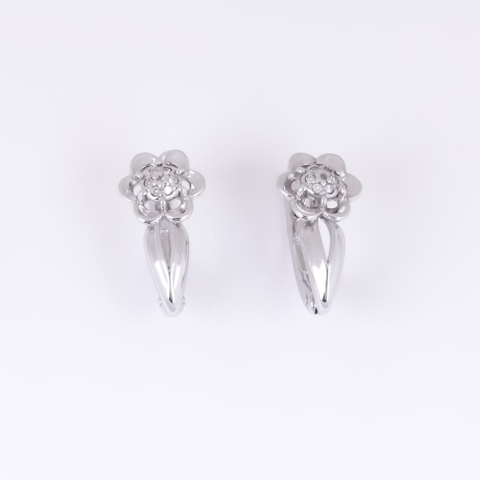 Серебряные серьги «Вдохновение кружев»