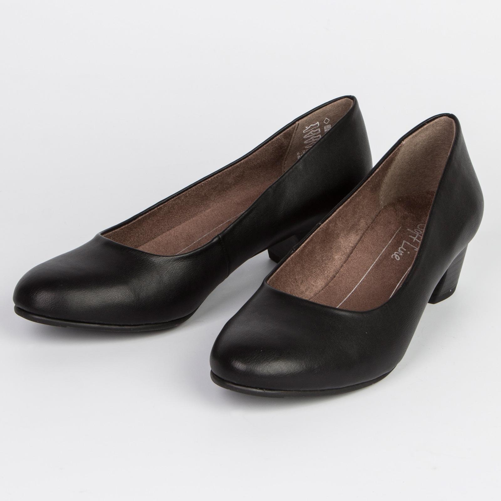 Туфли женские классические на удобном каблуке