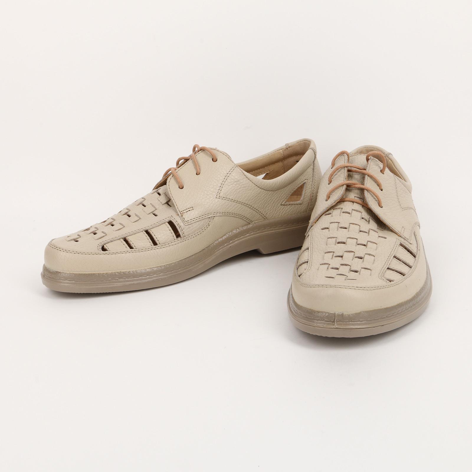 Летние мужские полуботинки на шнуровке