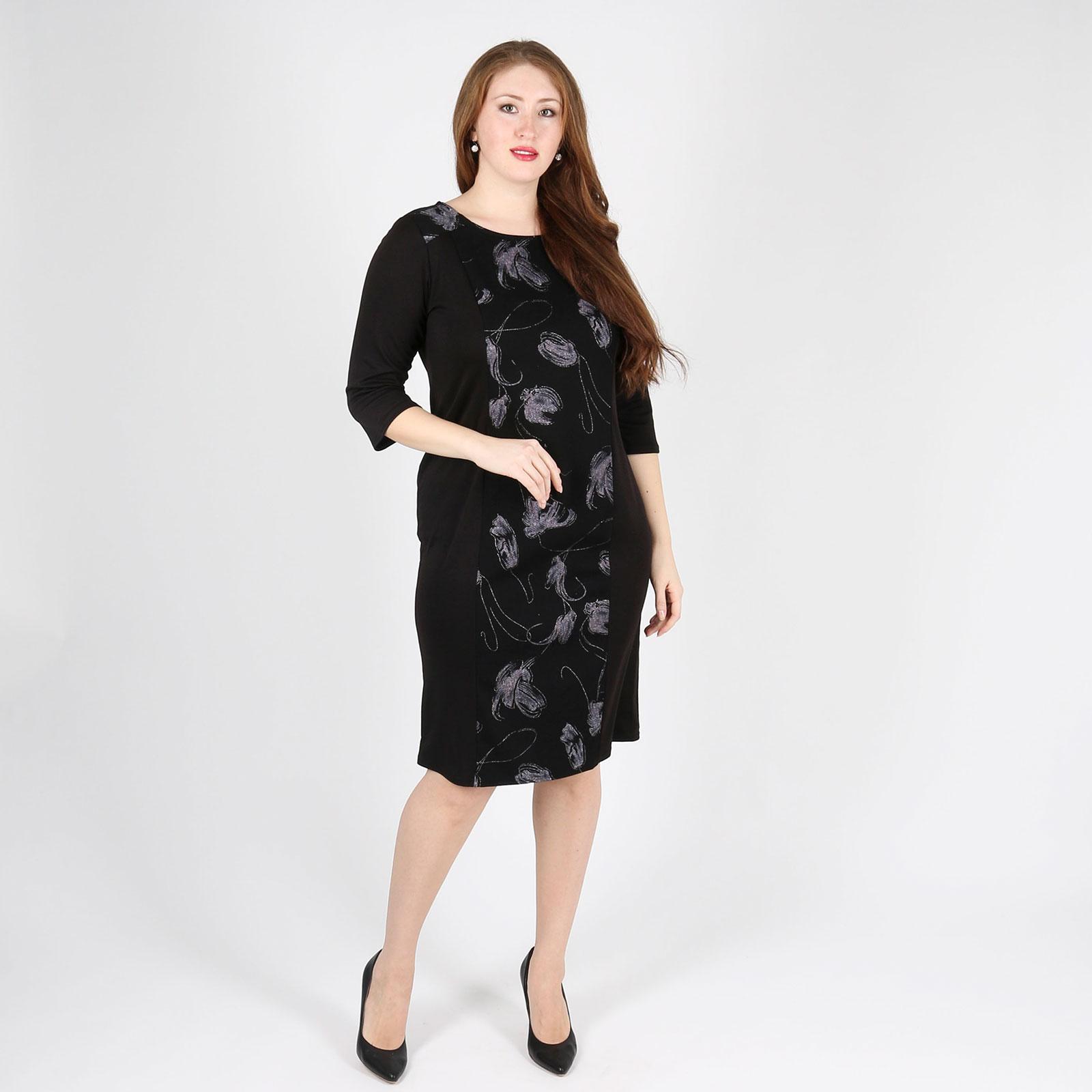 Платье-миди с узором