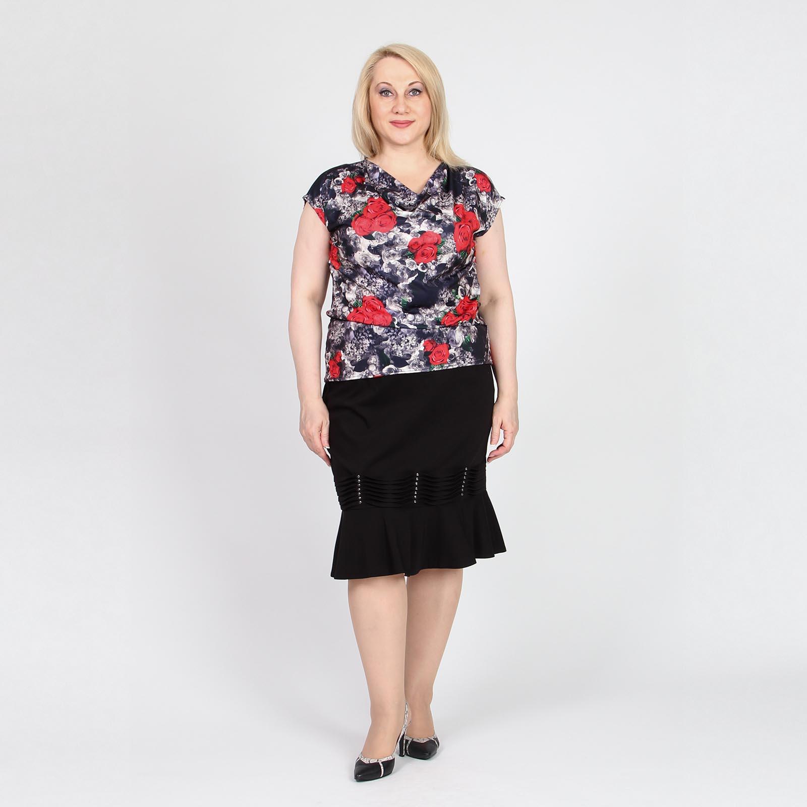 Блуза с воротником «качели»